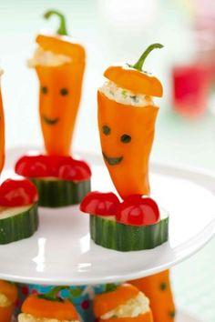 Leuke tip voor koken met de kids: paprika-mannetjes