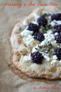 Blackberry and Goat Cheese Pizza by Nutmeg Nanny