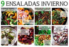 9 ensaladas de invierno de Carla Zaplana.