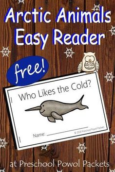 Perfect easy reader: arctic animals for kids! Ideal for preschool and kindergarten! animals silly animals animal mashups animal printables majestic animals animals and pets funny hilarious animal Arctic Animals For Kids, Artic Animals, Bears For Kids, Animals In Winter, Free Preschool, Preschool Printables, Preschool Winter, January Preschool Themes, Preschool Class