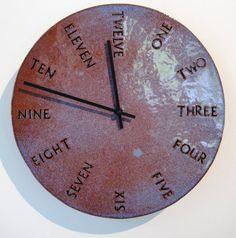 Ceramic Clock handbuilt by CsquaredCeramics on Etsy, $80.00