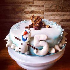 Disney Frozen birthdaycake. Disney Frozen syntymäpäivä täytekakku ❄️❄️❄️