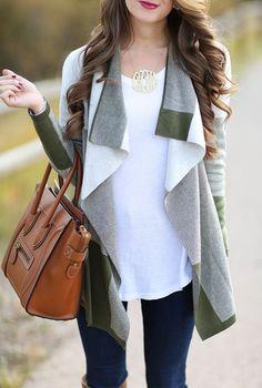 #winter #fashion / pattern print cardigan