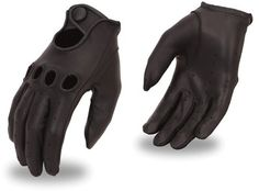 Professional Style Men's Driving Gloves Wrist Strap Reinforced Cut Out Nuckles on eBay!