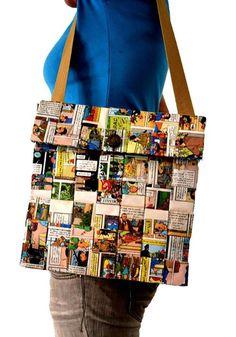 Magazine Crafts: 23 Ideas, Photos + Step by Step Artesanato com Revista: 23 Ideias, Fotos + Passo a Passo Magazine Crafts: 23 Ideas, Photos + Walkthroughs Recycled Fabric, Recycled Crafts, How To Make Magazine, Comic Book Crafts, Magazine Crafts, Magazine Photos, Ideas Magazine, Paper Purse, Recycled Magazines