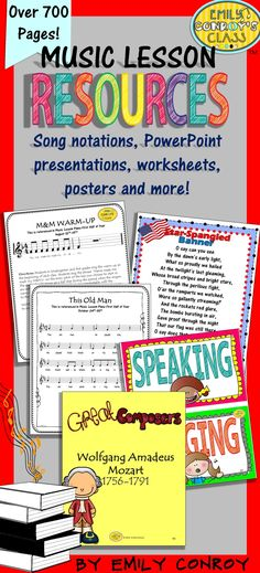 Music Resources for the whole year! This has tons of PowerPoint presentations, worksheets, posters, warm-ups, songs, and classroom management ideas for elementary music students
