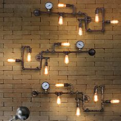 Vintage Loft Industrial Steampunk Wall Lamp Retro Light Rustic Pipe Lighting | eBay
