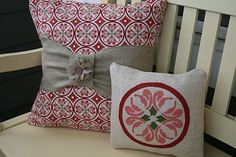 Front porch pillows, can't wait to make these