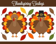 Thanksgiving Turkeys Clipart - Digital Clip Art Graphics for Personal or Commercial Use Thanksgiving Stories, Thanksgiving Wishes, Thanksgiving Crafts, Thanksgiving Decorations, Fall Crafts, Holiday Decorations, Christmas Pictures, Christmas Art, Holiday Images
