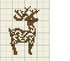 animaux - animals - renne - point de croix - cross stitch - Blog : http://broderiemimie44.canalblog.com/
