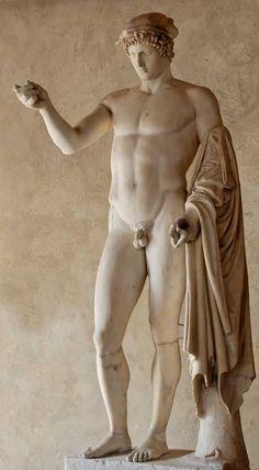 Hermes Logios / Mercurius Orator - Statue en marbre, copie romaine d'après un original grec attribué à Phidias - Ier ou IIe siècle de notre ère.