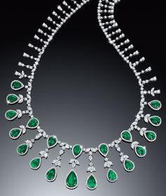 Cellini Jewelers ~ Emerald and Diamond Necklace