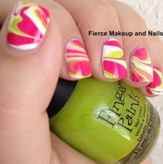 Fierce Makeup and Nails: Watermarble Attempt