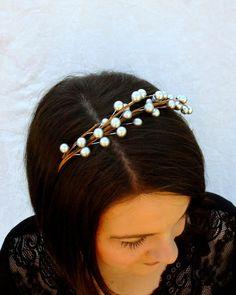 Woodland Headband Berry Branch Headband Gold by RuthNoreDesigns, $15.00
