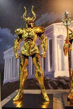 Capricórnio armaduras de ouro em tamanho real cavaleiros do zodíaco