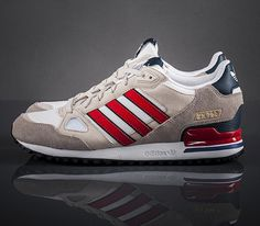 size 40 e21e7 033b7 adidas Originals ZX 750-Running White-Bliss-Vivid Red   Follow My SNEAKERS