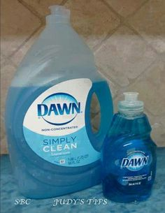 ORIGINAL BLUE DAWN:CLEAN YOUR WINDOWS:Recipe from Merry Maids: mix 3 drops Dawn in 1 gallon water and fill a spray bottle with the solution. Spritz and wipe as you would with any window cleaner.UNCLOGGING TOILETS A cup of Dawn detergent poured into a clogged toilet allowed to sit for 15 minutes and then followed with a bucket of hot water poured from waist height will clear out the toilet.