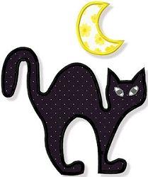 Black Cat Scene Applique - 3 Sizes! | Halloween | Machine Embroidery Designs | SWAKembroidery.com Abigail Michelle