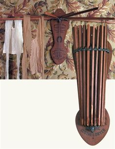 This Empire Clothes Dryer is a beautiful wall mounted Victorian drying rack with multiple extendable arms to dry in small spaces. Laundry Hanger, Drying Rack Laundry, Clothes Drying Racks, Clothes Dryer, Clothes Horse, Clothes Hanger, Laundry Room Organization, Laundry Rooms, Laundry Closet