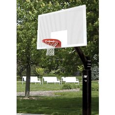 Bison Ultimate Honeycomb Outdoor Basketball System. Heavy duty and lighter weight.