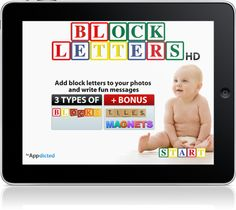 Awesome app to add block letters to your pics. Loves!!