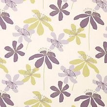 Buy John Lewis Passion Flower Curtain, Cassis Online at johnlewis.com