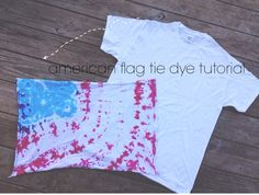 the olive tree: how to tie dye an american flag pattern.