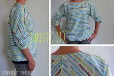 Nähanleitungen Mode - EBook Bluse *twist (it)* – Größen 36 - 46 - ein Designerstück von schneidernmeistern bei DaWanda