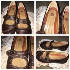 I just discovered this while shopping on Poshmark: Un Structured MaryJane Brown Leather 7 M Clarks. Check it out! Price: $54 Size: 7, listed by glstls