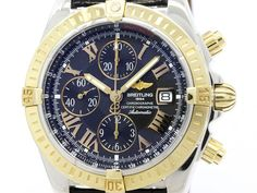 Polished #BREITLING Chronomat Evolution 18K Gold Steel Watch C13356 (BF109143): All of #eLADY's items are inspected carefully by expert authenticators who have years of experience. For more pre-owned luxury brand items, visit http://global.elady.com