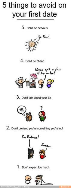 5 things to avoid on date . Read more at blog.freakin-out.com