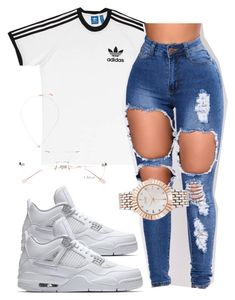 """Untitled #23"" by euphoricish on Polyvore featuring adidas, Chloé, Carbon & Hyde and Catherine Catherine Malandrino"