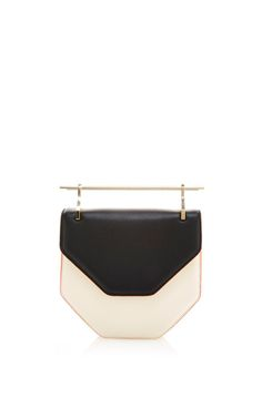 Amor Fati Shoulder Bag In Black & White Calf Leather by M2Malletier for Preorder on Moda Operandi