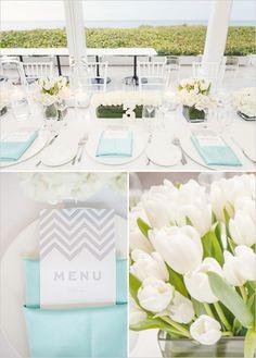 Tiffany Blue Beach Wedding filled with elegantly beautiful beach wedding ideas. Wedding Themes, Wedding Colors, Wedding Events, Wedding Reception, Wedding Flowers, Wedding Ideas, Wedding Stuff, Azul Tiffany, Tiffany Blue