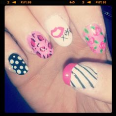 Betsey Johnson inspired nails