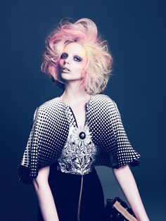 Valonz Webazine Exclusive.  Chaotic Beauty.  Hair by Renya Xydis. Photographer Dave Mckelvey.