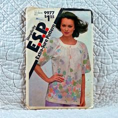 9977 SIMPLICITY PATTERN 1981 Women Loose by HoneyCatPatterns, $6.50