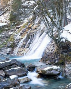 Winter and waterfalls. Winter, Outdoor, Waterfall, Tourism, Alps, Vacation, Summer, Winter Time, Outdoors
