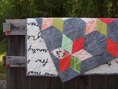 chambray quilt by salty oat
