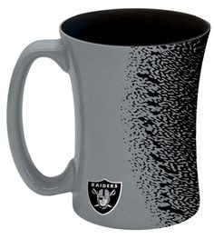 Oakland Raiders Coffee Mug - 14 oz Mocha