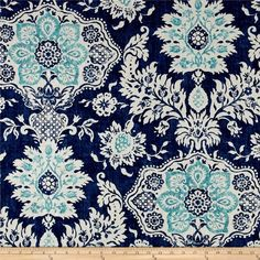 Magnolia Home Fashions Belmont Harbor from @fabricdotcom  Screen printed on cotton duck; this versatile, medium weight fabric is perfect for window accents (draperies, valances, curtains and swags), accent pillows, duvet covers, upholstery and other home decor accents. Create handbags, tote bags, aprons and more. Colors include blue, aqua and ivory.