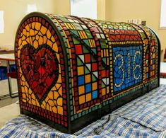 This listing represents the added cost for a larger mailbox, additional mosaic materials and shipping costs. If you would like an XL mailbox, order one of the regular mailboxes on my page and add this item to your order. Mosaic Crafts, Mosaic Art, Mosaic Tiles, Large Mailbox, Custom Mailboxes, Mosaic Furniture, Handmade Christmas Decorations, Woodworking Patterns, Oak Tree