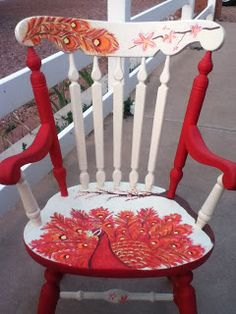 1000 Images About Painted Rocking Chairs On Pinterest