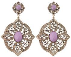 Bijou Brigitte - post earrings in ornamental design