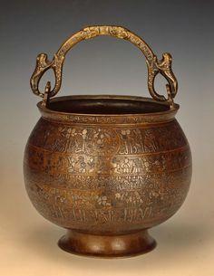 Place of origin: Iran Date: - early century School: Herat Medium: bronze (brass), silver and copper
