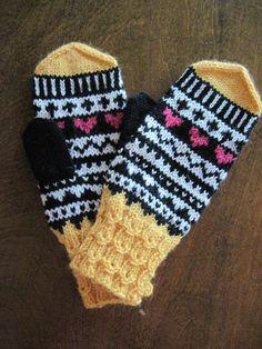 Knit Mittens, Gloves, Wool, Knitting, Pattern, Tricot, Breien, Patterns, Stricken