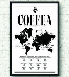 Coffee chart- world, Scoutmob.com