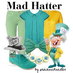 "Alice in Wonderland ""Mad Hatter"" Inspired Outfit Disney Character Outfits, Disney Themed Outfits, Character Inspired Outfits, Disney Dresses, Disney Clothes, Alice In Wonderland Outfit, Wonderland Party, Disney Mode, Disney Inspired Fashion"