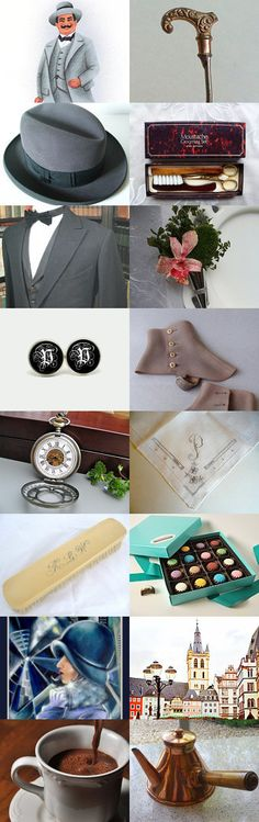 Let's Pretend: Hercule Poirot Edition by SomeLittleGood on Etsy--Pinned with TreasuryPin.com