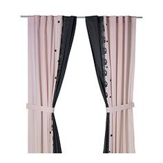 "CHARMERANDE curtain with tie-back, heart light pink Length: 98 "" Width: 47 "" Length: 250 cm Width: 120 cm"